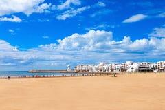 Agadir city, Morocco. Agadir main beach in Agadir city, Morocco. Agadir is a major city in Morocco located on the shore of the Atlantic Ocean Royalty Free Stock Image