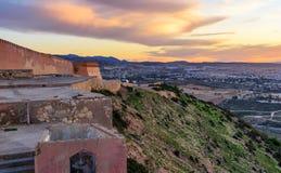 Agadir Fortress at sunrise, Morocco. Agadir Fortress, Kasbah or Agadir Oufella at aunrise. Morocco Royalty Free Stock Images