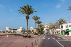 AGADIR, MAROC - 15 DÉCEMBRE 2017 : Promenade de bord de mer d'Agadir, Photographie stock libre de droits