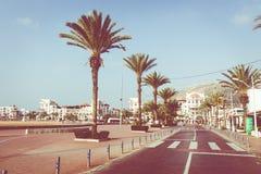 AGADIR, MAROC - 15 DÉCEMBRE 2017 : Promenade de bord de mer d'Agadir, Image libre de droits