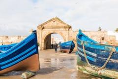 AGADIR MAROCKO - DECEMBER 15, 2017: Sqala du Port, en defensiv Arkivbilder