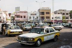 AGADIR MAROKO, GRUDZIEŃ, - 15, 2017: Taxi stojak w Agadir, Moro Obrazy Royalty Free