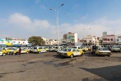 AGADIR MAROKO, GRUDZIEŃ, - 15, 2017: Taxi stojak w Agadir, Moro Zdjęcia Royalty Free