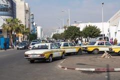 AGADIR MAROKO, GRUDZIEŃ, - 15, 2017: Taxi stojak w Agadir, Moro Zdjęcie Royalty Free
