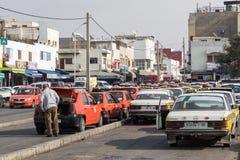 AGADIR MAROKO, GRUDZIEŃ, - 15, 2017: Taxi stojak w Agadir, Moro Fotografia Royalty Free