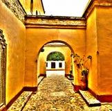 Agadir medina archway hdr Royalty Free Stock Images