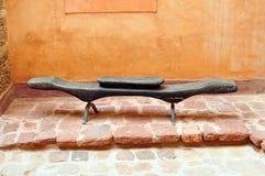 Agadir medina bench Stock Image