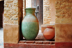 Agadir medina vase. Agadir city morocco medina landmark arab ceramic vase Royalty Free Stock Photos