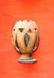 Agadir medina vase. Agadir city morocco medina landmark arab wood vase Royalty Free Stock Photo
