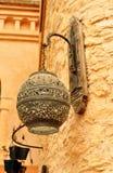Agadir medina wall lamp Stock Images