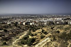Agadir, Morocco. A view of Agadir in Morocco from the nearby hills stock images