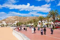 Agadir nadbrzeże, Maroko Obrazy Royalty Free