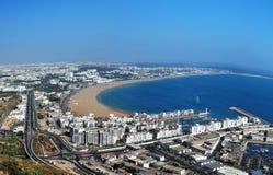 Agadir panorama Arkivbild