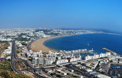Agadir panorama. Agadir city morocco beach and ocean landscape panorama Stock Photography