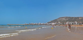 Agadir plaża Zdjęcie Royalty Free