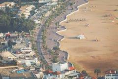 Agadir powietrzny panoramiczny widok od Agadir Kasbah Agadir fortu Zdjęcia Stock