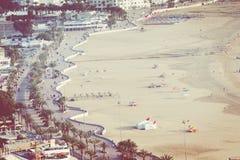 Agadir powietrzny panoramiczny widok od Agadir Kasbah Agadir fortu Zdjęcie Royalty Free