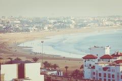 Agadir powietrzny panoramiczny widok od Agadir Kasbah Agadir fortu Zdjęcie Stock