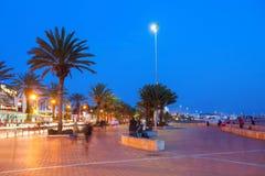Agadir przy nocą Obraz Stock
