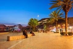 Agadir przy nocą Zdjęcie Royalty Free