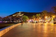 Agadir przy nocą Zdjęcie Stock