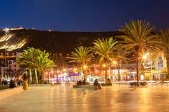 Agadir przy nocą Fotografia Stock