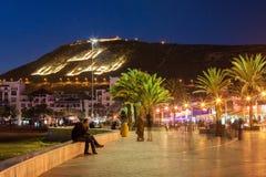Agadir przy nocą Obrazy Stock