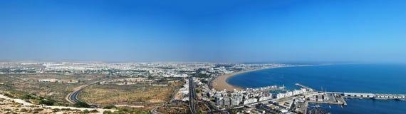 Agadir stadspanorama Arkivbild