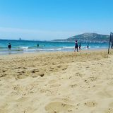 Agadir strand Arkivfoton