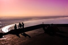 Agadir sunset, Morocco Royalty Free Stock Images