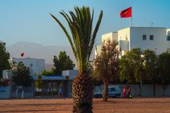 Agadir university Ibn Zohr entrance stock image