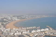 Agadir view from the top. Marocco royalty free stock image