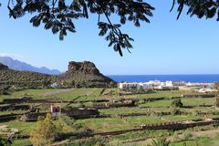 Agaete, Gran Canaria Fotografia Royalty Free