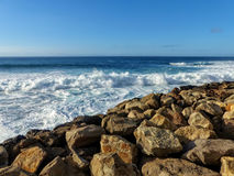 Agaete oceaanCanarische Eilanden stock foto's