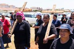 Agains протеста убивая фермеров в Южной Африке Стоковая Фотография