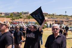 Agains de la protesta que matan a granjeros en Suráfrica Fotografía de archivo
