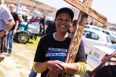 Agains de la protesta que matan a granjeros en Suráfrica Imágenes de archivo libres de regalías