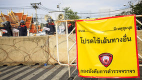 Against the Amnesty Bill law in Thailand. Royalty Free Stock Images