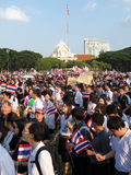 Against amnesty bill in Thailand Royalty Free Stock Photos