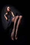 against background black girl legsl long Στοκ φωτογραφία με δικαίωμα ελεύθερης χρήσης