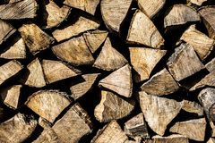 The background of firewood. Old tree royalty free stock photos
