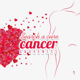 Against breast cancer campaign message Royalty Free Stock Photography