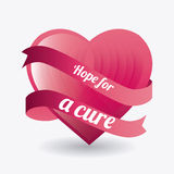Against breast cancer campaign. Message, vector illustration Royalty Free Stock Images