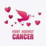 Against breast cancer campaign. Message, vector illustration Royalty Free Stock Photo