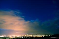 against city darkness lights night Στοκ Εικόνες