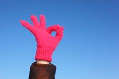 against gesture hands ok shows sky Стоковые Фото