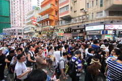 Against government marches in hong kong Royalty Free Stock Photography