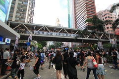 Against government marches in hong kong 2012 Stock Images
