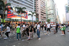 Against government marches in hong kong 2012 Royalty Free Stock Photography