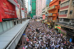 Against government marches in hong kong 2012 Royalty Free Stock Images